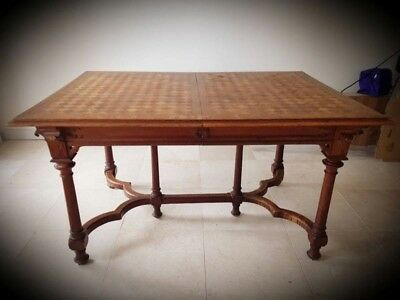 French Antique Parquetry Dining Table