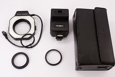 Minolta Auto Macro Ring flash + control unit 80PX in case