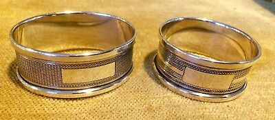Solid Silver his +her Napkin Rings X 2 Birmingham 1968, ideal gift, 26grms