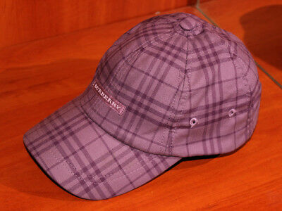 af419d96138 Unisex Genuine BURBERRY GOLF Check Hat Baseball Cap Purple - One Size