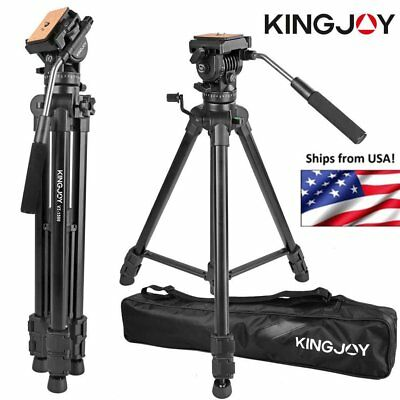 "65"" Pro Portable Aluminum DV Video Camera Tripod Stand Fluid Pan Head Kit US XP"
