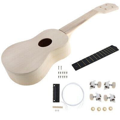 21'' Ukelele Ukulele Hawaii Guitar DIY Assembly Kit Wooden Kids Xmas Gift