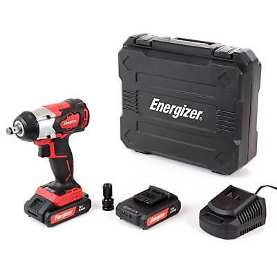 Energizer Brushless 18V Impact Wrench With 2 x 2.0Ah Batteries, Charger & Case