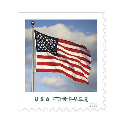 USPS FOREVER First Class Postage Stamps U.S. Flag Coil of 100 Stamps *BEST PRICE