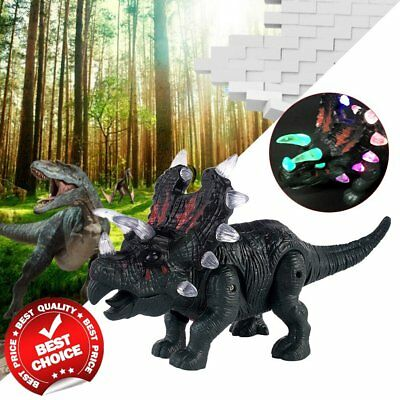 Electronic Walking Dinosaur Toy Sound Lights Dino Jurassic Wold Gift Kid Baby FE