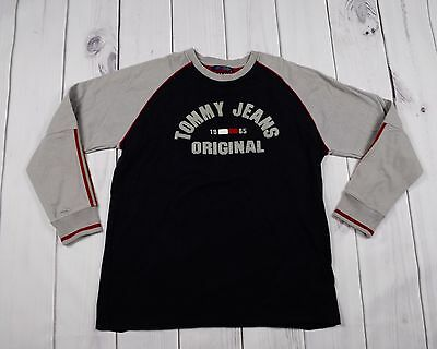 Tommy Hilfiger Jeans Vintage Crewneck Pullover Top Spellout Casual Mens Large
