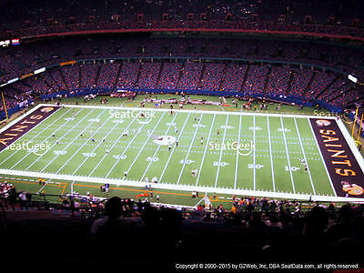 2 Carolina Panthers New Orleans Saints Tickets 12/30 Terrace Sideline Superdome
