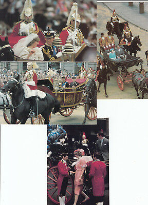 CHARLES DIANA Royal Wedding 4 Postcard Lot