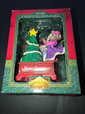 Matrix Collectible Critter Christmas Ornament New Mouse Girl Decorating Tree