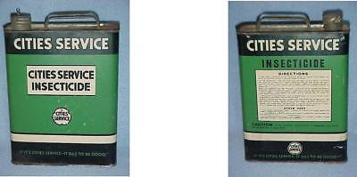 Cities Service Oil Company Insecticide Gallon Can Wire Cap Cloverleaf Sign Logo