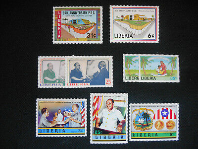 Liberia 4 MNH sets all with local relevance: Peace Corps, Archives, Tolbert