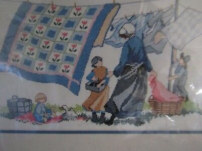 "Dimensions Counted Cross Stitch Amish Breezy Day Kit 14"" x 8"""
