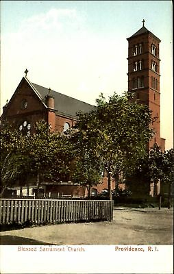 Blessed Sacrament Church ~ Providence Rhode Island RI ~ UDB postcard c1905