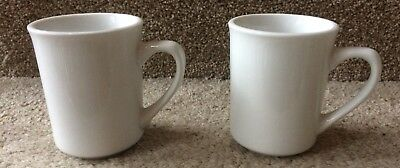 Pair of 2 Vintage Syscoware Heavy Coffee Cup Mug White