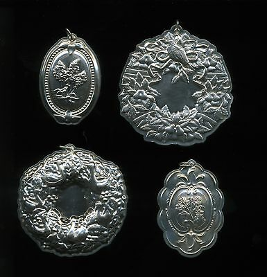 Towle Sterling Silver Christmas Tree Ornaments (Lot of 4)