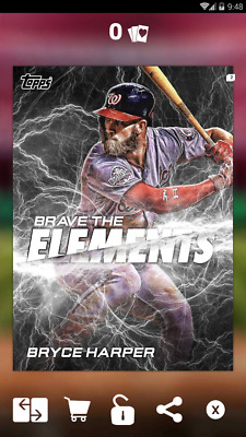 Topps Bunt 2018 Brave the Elements Marathon Week 4 Bryce Harper motion digital
