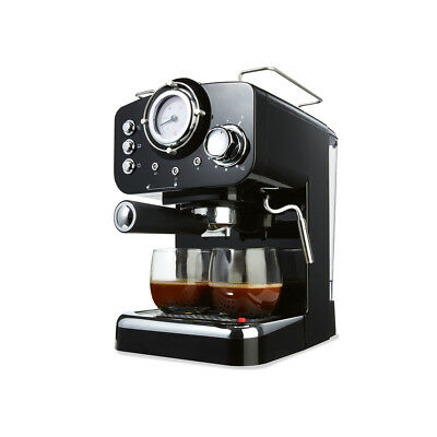 Commercial Espresso Machine Black Automatic Coffee Maker High Pressure Function