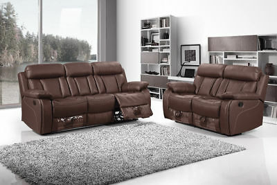 Vancouver Recliner Leather Sofa Set 3 2 1