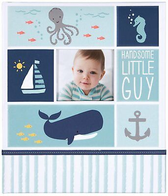 """Carter's Blue Nautical My First Years Bound Memory Book for Baby Boys, 10"""" W x 1"""