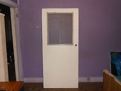 Interior Door With Large Vent/Louver Top Half