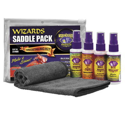New Wizards Detailing Cleaning Kit Motorcycle Saddlebag Pack 22480