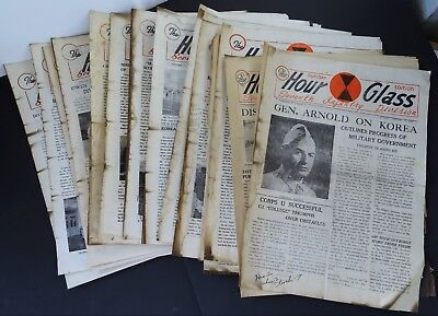 RARE 19 Magazine Archive HOUR GLASS 7th Infantry US Korea Occupation 1946 WWII