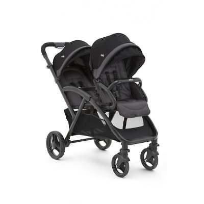 Joie Two Tone Black Evalite Duo Tandem Stroller Double Pushchair With Raincover