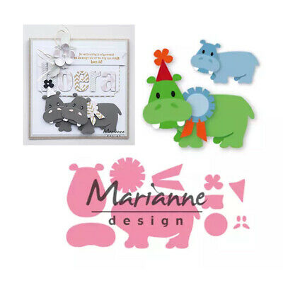 Marianne Design Collectables Dies - Eline's Happy Hippo COL1450