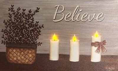 Inspirational LED Light Up Lighted Canvas Painting Picture Wall Art Home Decor