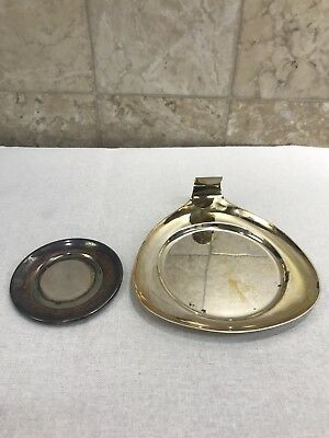 Vintage Round Silver Plated Saucer & Small Ashtray Must See