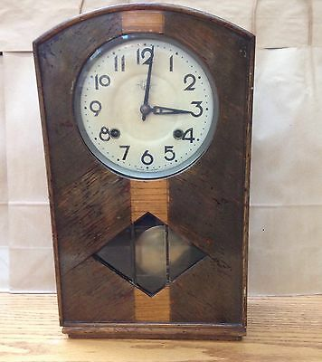 Vintage Japanese Trade S. Mark Wood Wall/Mantle Clock Must See 1930's