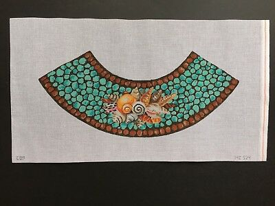 COP Hand-painted Needlepoint Canvas Seashells Cover & Lampshade/LAST CHANCE!!!