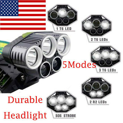 90000LM 5X Bright T6 LED Headlamp Rechargeable Headlight Head Flashlight Torches