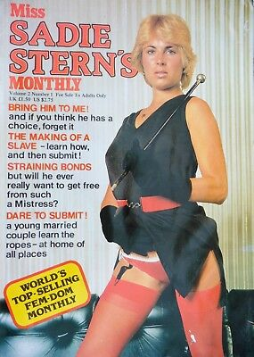 Vintage & early Miss SADIE STERNS monthly. Vol 2#1 Fem dom fetish glamour 1980's