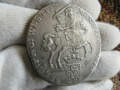 "1784 Netherlands West Friesland  Ducaton *silver Rider ""rare"""
