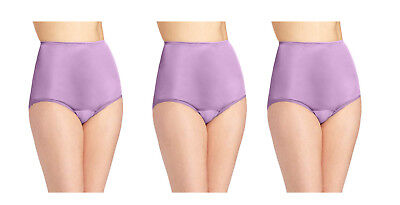 3 pair Vanity Fair Perfectly Yours Ravissant Brief 15712 English Lilac Sz- 6 7 8