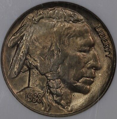 1938D/S Buffalo Nickel, NGC MS65