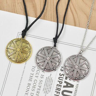 Viking Retro Sliver Steampunk Pendant Necklace Tibetan Amulet Jewelry Men Women