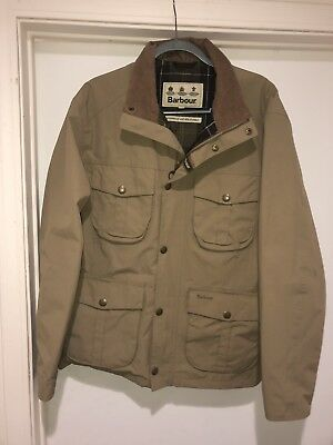 Barbour Jacket Outdoors Waxed Quality Rare Hunting Field Large Waterproof Men's