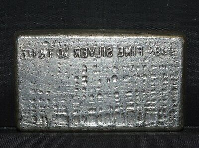 10 Oz Engelhard Silver Bar ✪ Reverse Convex Stamping ✪ 999 Waffle 10Th ◢Trusted◣