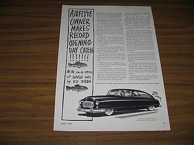 1950 Print Ad Nash Airflyte Cars #14 in Series by Ed Zern