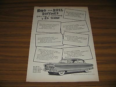 1952 Print Ad Nash Golden Airflyte #42 in Series by Ed Zern