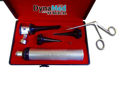 BRAND NEW! LED LENSE Veterinary/Surgical Operating Otoscope Kit