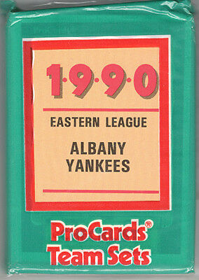1990 Albany Colonie Yankees Procards Ny Minor League Baseball Cards Team Set