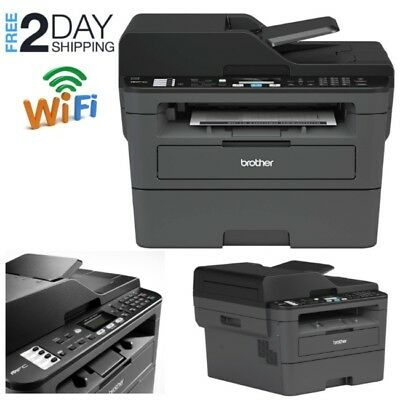 Wireless All-in-one Laser Printer Brother Monochrome Fax Scanner Wifi Home MFC