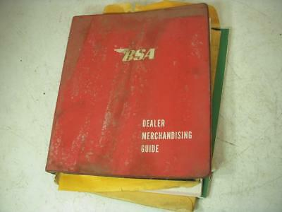 Vintage 1969-71 BSA Dealer Merchandising Guide Binder British Used