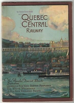 Quebec Central Railway Brochure for Route from NYC Boston Portland & Quebec