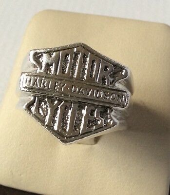Sterling Silver Harley Davidson Motor Cycles Ring - Size 11