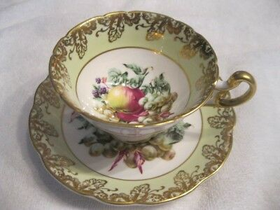 Stunning Foley China Cup And Saucer England Large Fruit