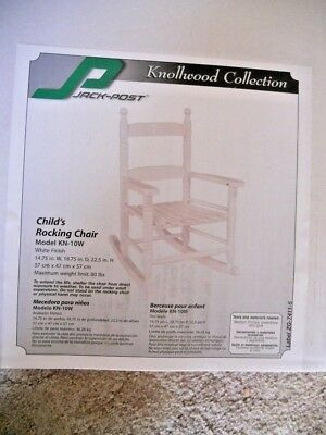 Knollwood Collection Jack Post Childs Rocking Rocker Chair KN-10W New NIB